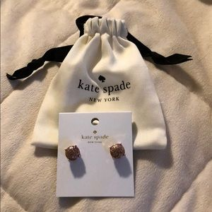 MUST GO!Kate space rose gold glitter earrings! NWT